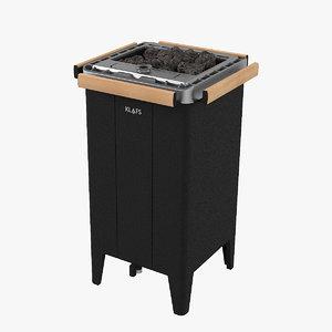 3D klafs fero sauna heater