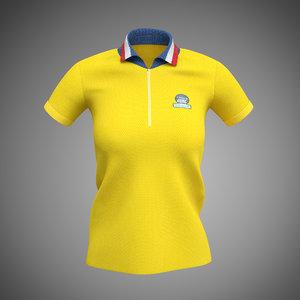 3d polo women shirt