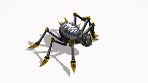 funny cartoon insect spider 3D model