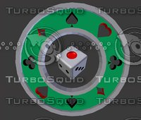 dice poker symbol 3D model