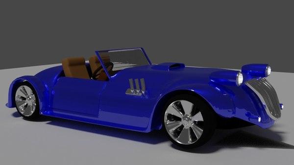 3D vintage rigged model