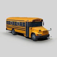 3D blue bird tc2000 school bus - TurboSquid 1386446