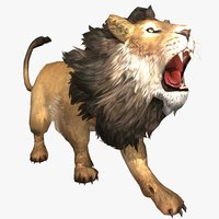 Male Lion Animated