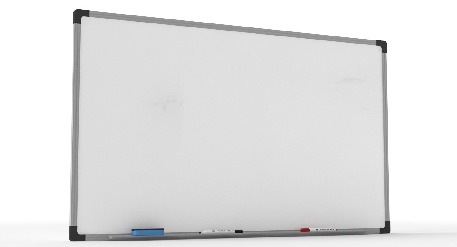 white board markers 3D model