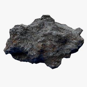 rocky asteroid 1 3D model