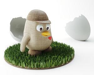 3D toy penguin model