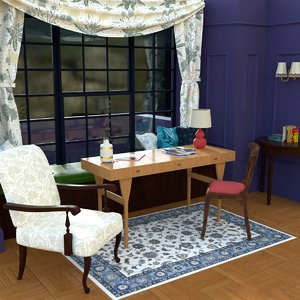 3D model guest room - day