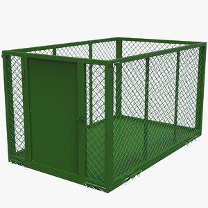 3D cage storage trailer