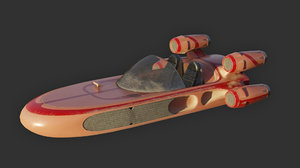 3D modified landspeeder model