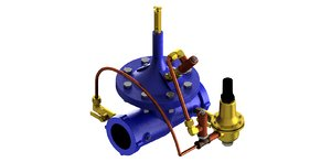 3D pressure valve model