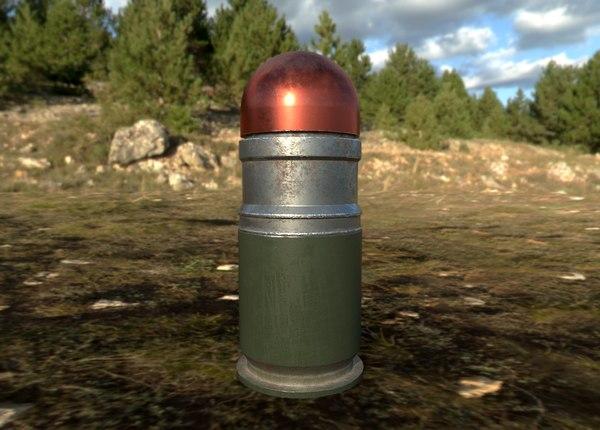grenades realistic projectiles 3D