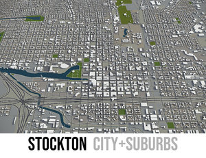 city stockton surrounding area model