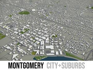 3D city montgomery surrounding area model