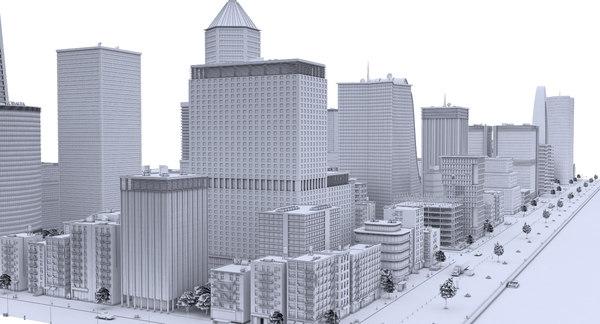 3D model city clay
