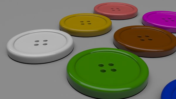 button fashion 3D model