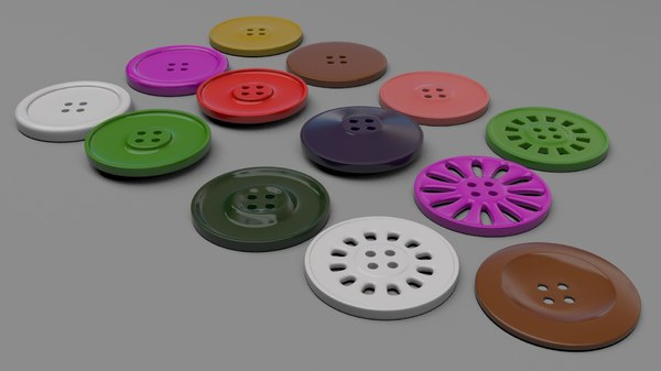 3D fashion button