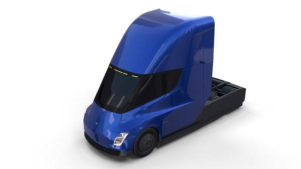 tesla semi truck 3D model