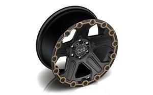 wheel black rhino 3D model