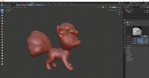 3D pokemon vulpix model