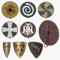 3D shield medieval model
