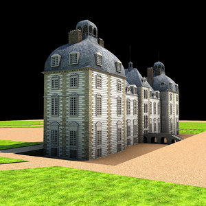 3D chateau cheverny