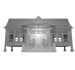 malaysia transitional house 3D model