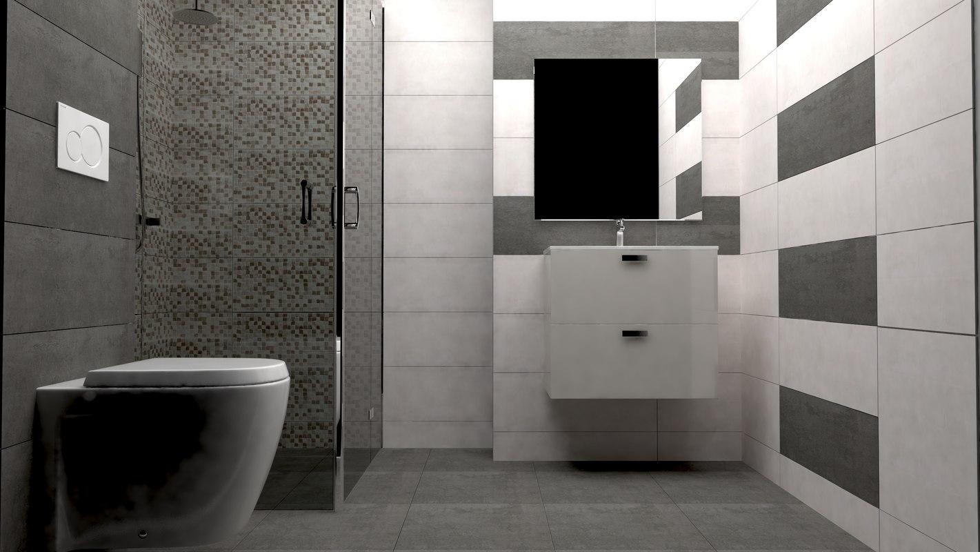 3D bathrooms design model