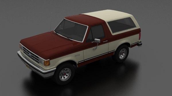 3D bronco 1987 model