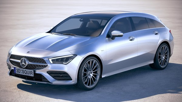 mercedes-benz cla shooting 3D model