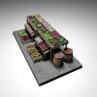 vegetable stand market 2 model