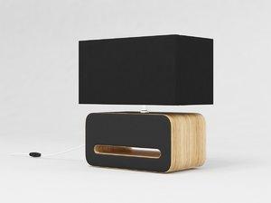 wood table lamp 3D model