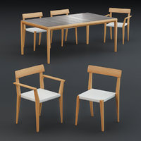3D table dining chair