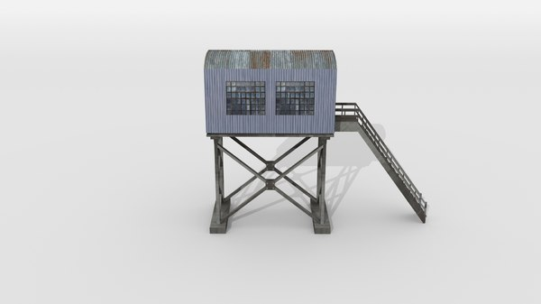 historical signal tower 3D