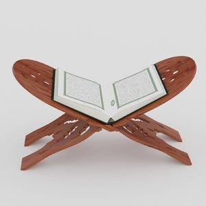 3D quran book islamic