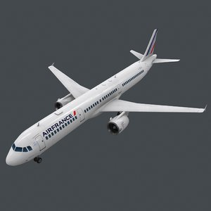 real-time a321 pbr 3D model