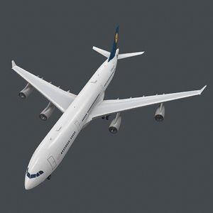 real-time a343-300 pbr 3D model