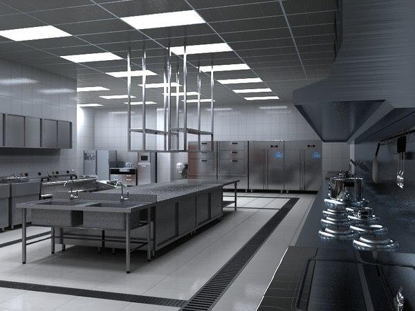 commercial kitchen 3D