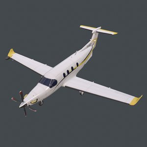 real-time pc-12 pbr 3D model