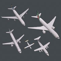 A321 A343 B772 PC-12 RJ85 real-time PBR planes collection