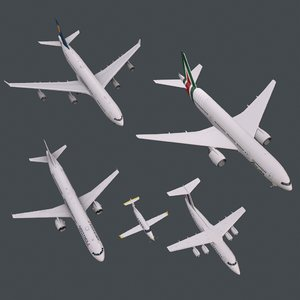 3D model real-time planes a321 b772