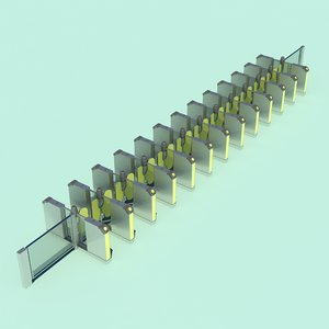 ticket barrier 3D