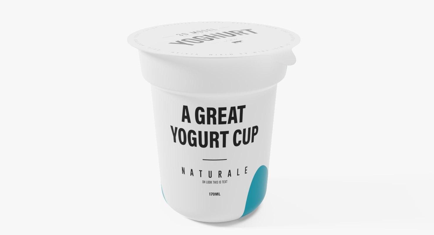 yogurt cup 170ml 3D model