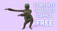 sloth floss dance 3D model