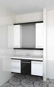 3D sink cabinet