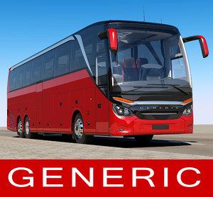 3D generic tourist bus