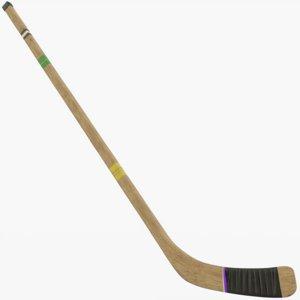 wooden hockey 3D model