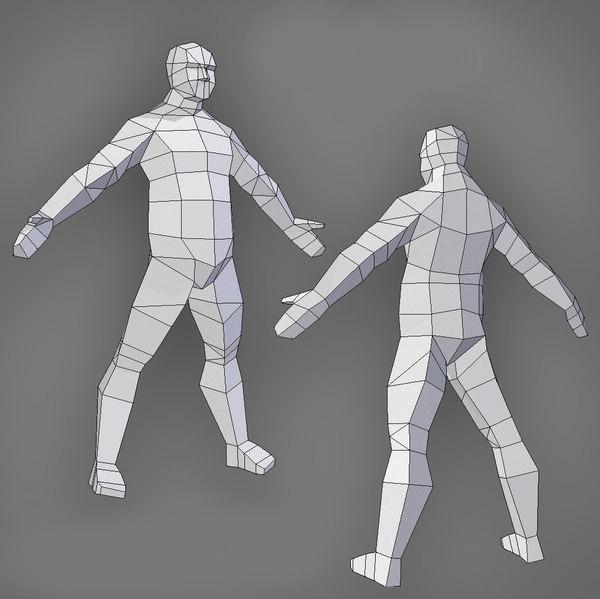 3D male sale uv model