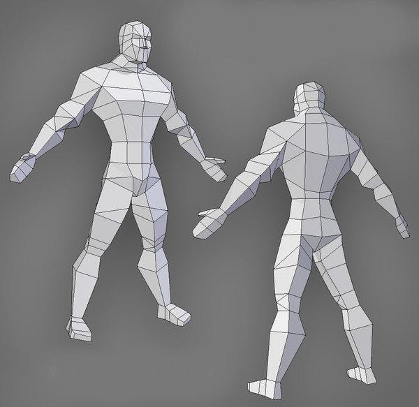 male muscles model