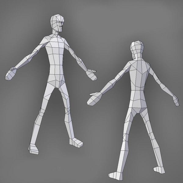skinny male 3D model