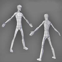 Low poly male model skinny